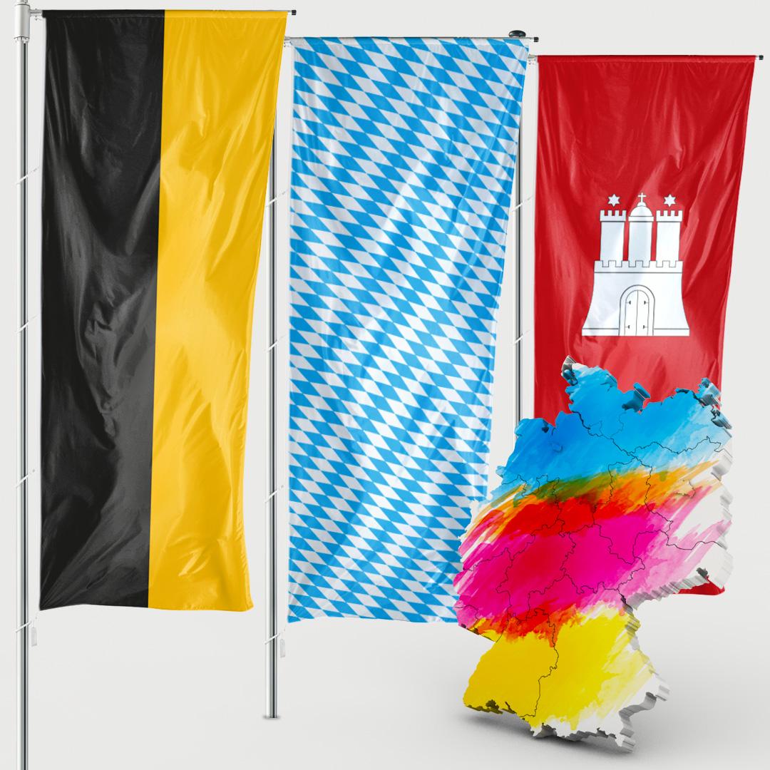 Bundeslandfahne - Auslegerfahne