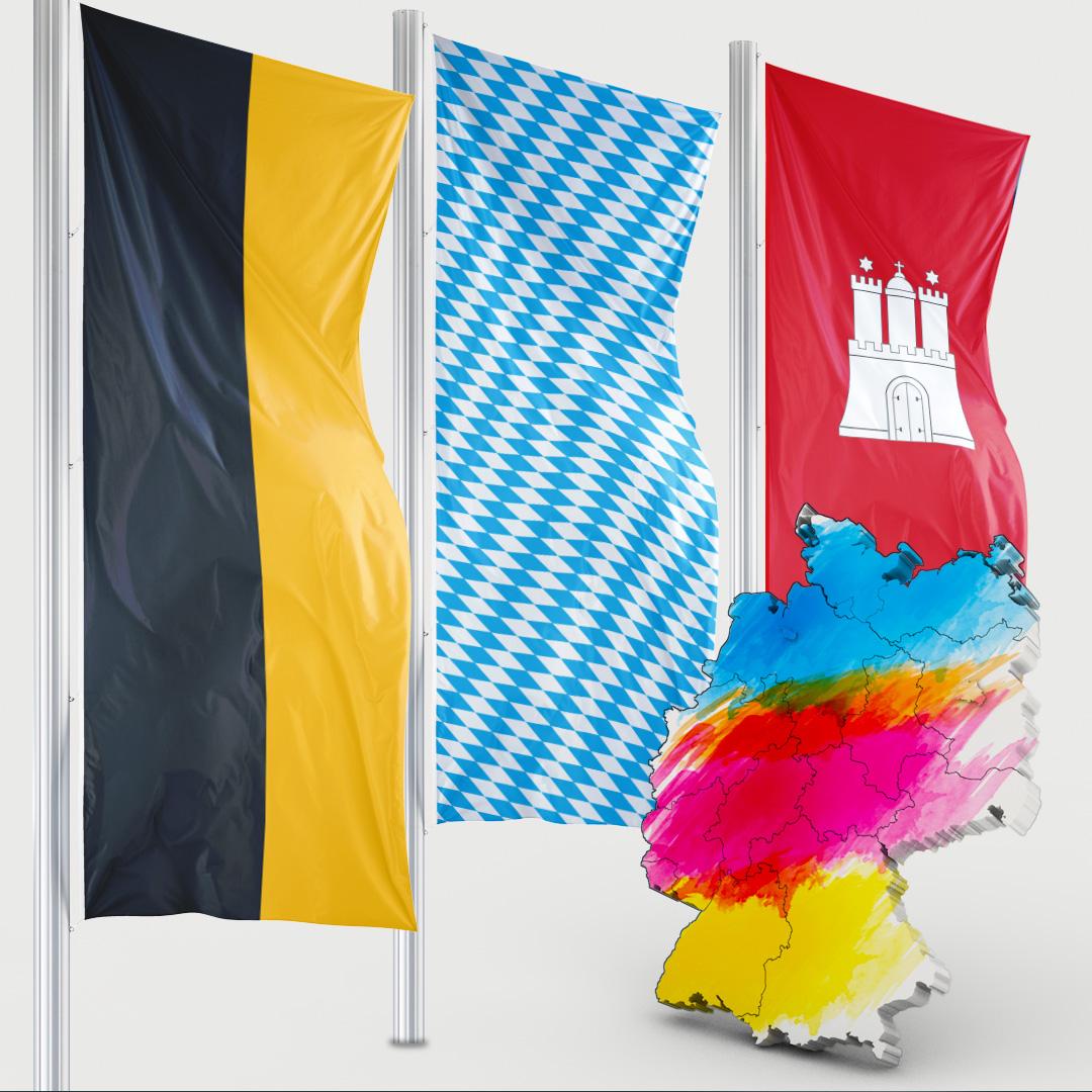Bundeslandfahne - Hochformat