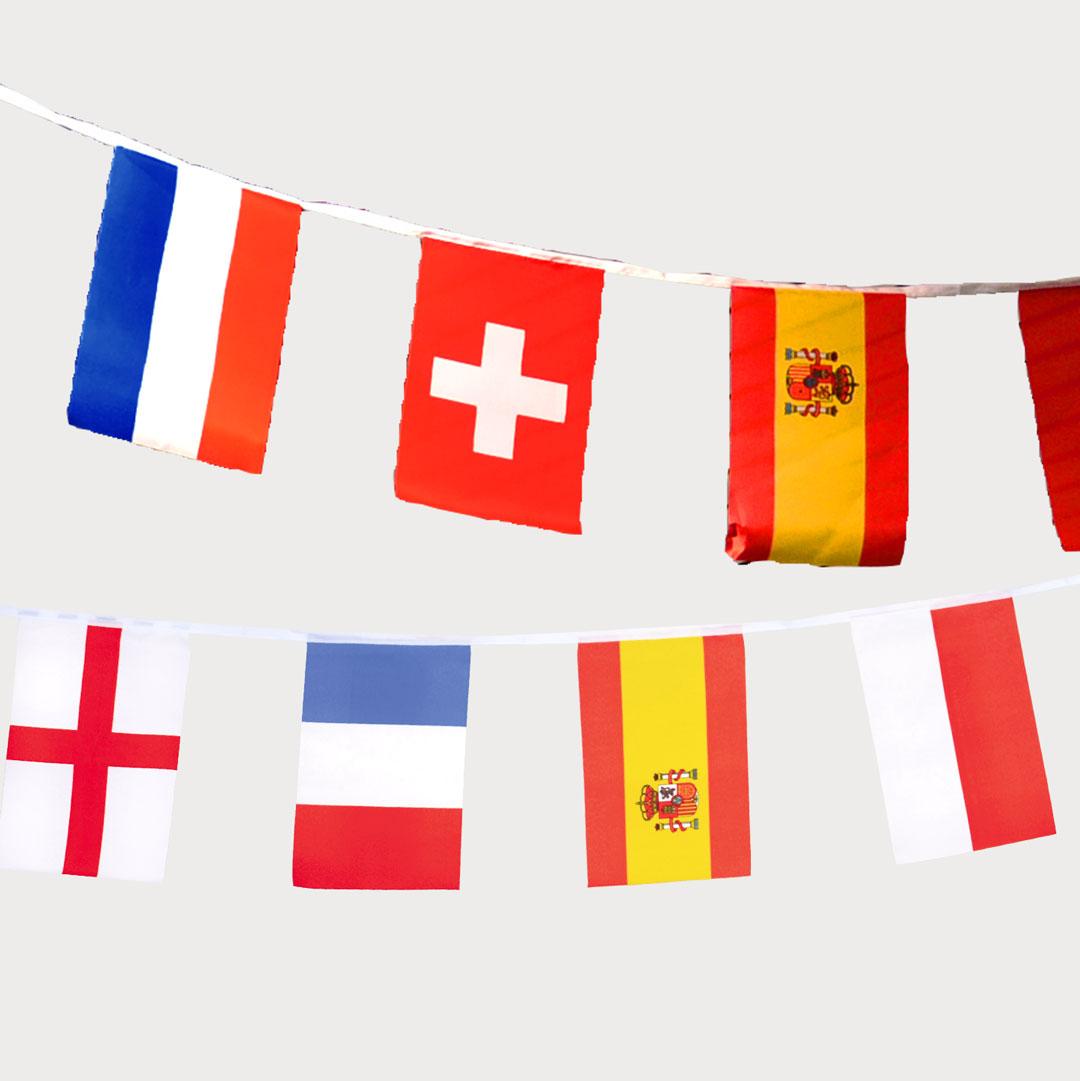 EM-Flaggenketten